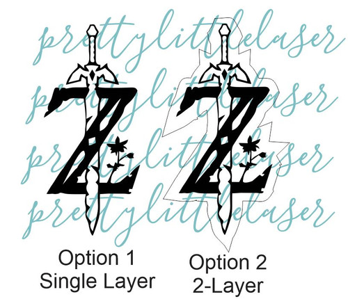Zelda Lay Flat Cake Topper | Birthday Lay Flat Topper | Single or Double Layer