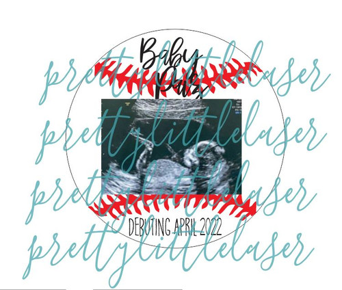 PERSONALIZED Baseball Debut Baby Announcement