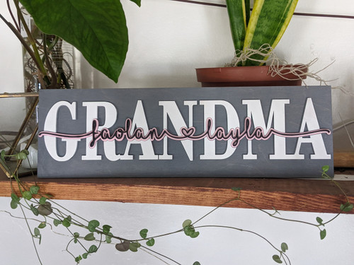 Personalized Word or Name Plaque Sign