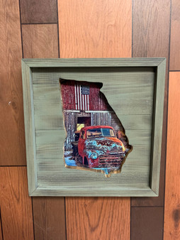 State of Georgia truck picture frame