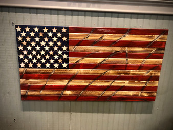 Rustic Rounded Edge American Flag
