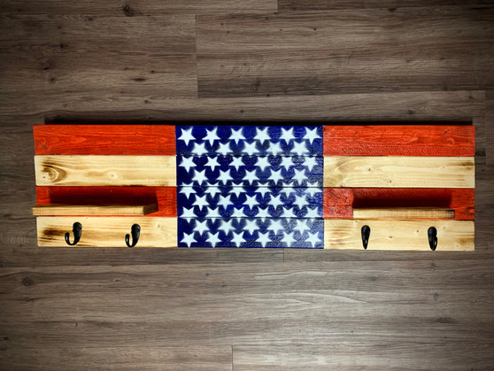 Red White And Blue Wall Hanger