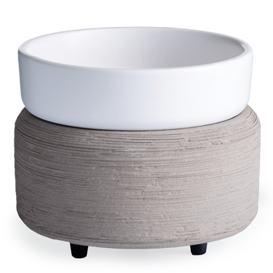 Grey Textured Candle Warmer
