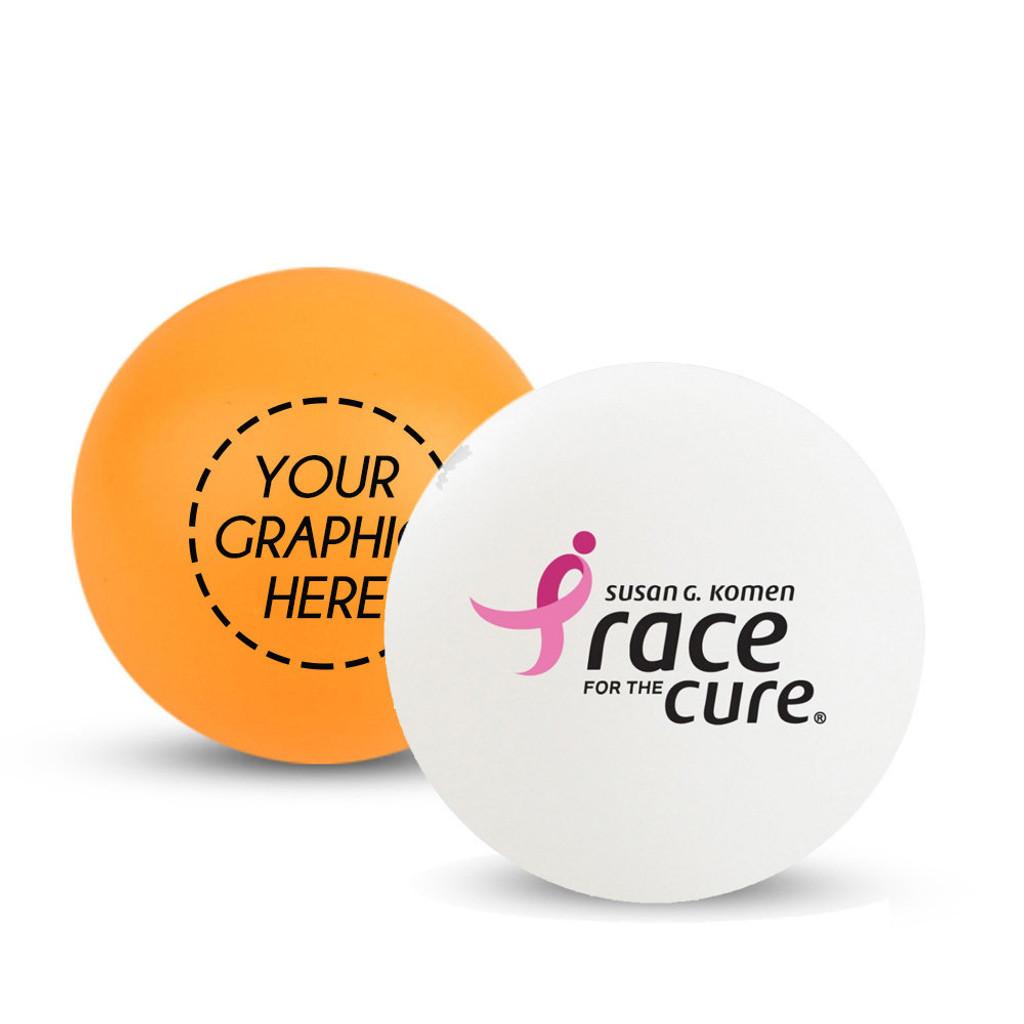 Custom White or Orange Ping Pong Ball (3-Star)