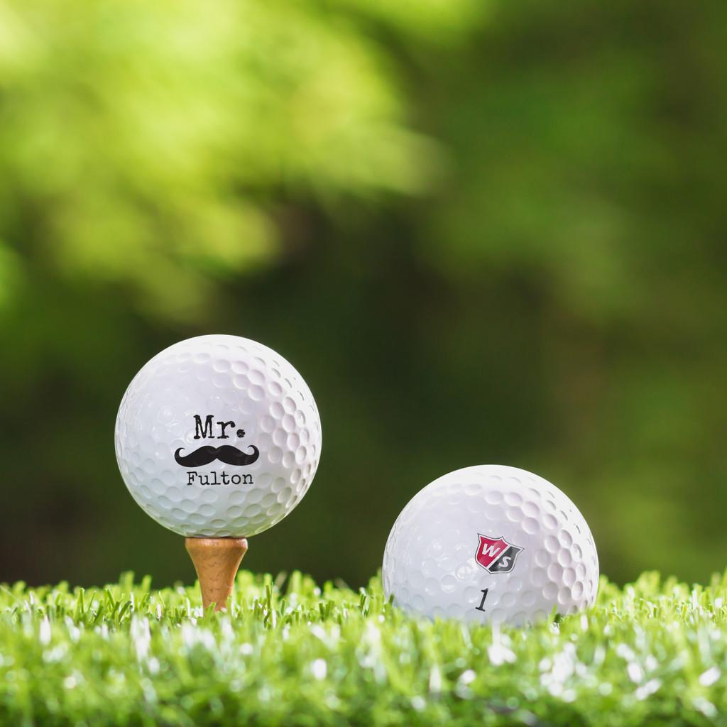 Wilson Staff Custom Printed Golf Ball - Mister