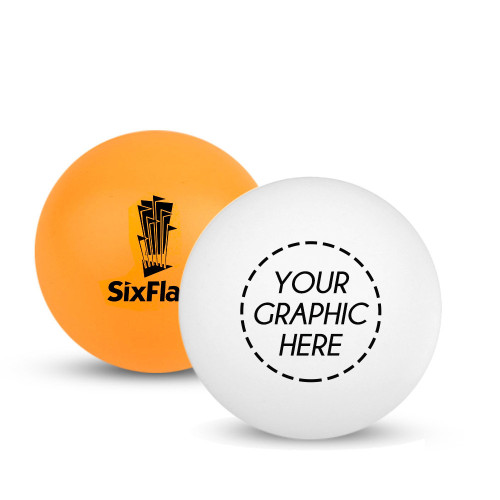 Custom White or Orange Ping Pong Ball (1-Star)