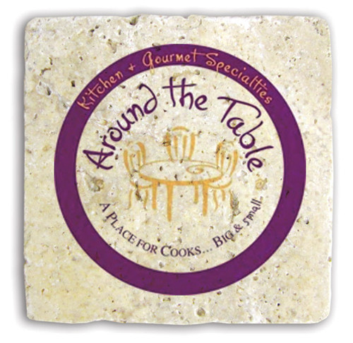 Custom Printed Stone Tumbled Travertine Trivet