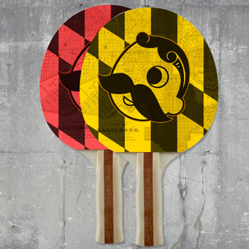 Custom Color Ping Pong Paddle - Double Side Imprint