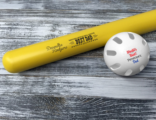 Customized Wiffle Ball and Bat Set - Best Dad
