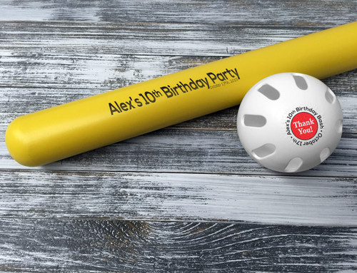 Customized Wiffle Ball and Bat Set - Birthday Party