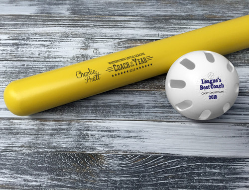 Customized Wiffle Ball and Bat Set - Coach of the Year