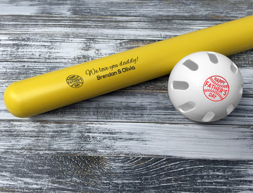 Customized Wiffle Ball and Bat Set - Father's Day