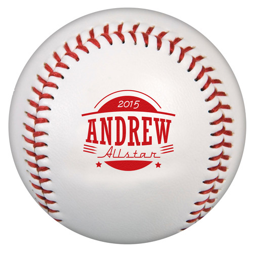 Custom Printed Baseball - Allstar