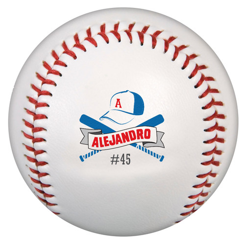 Custom Printed Baseball - Alejandro