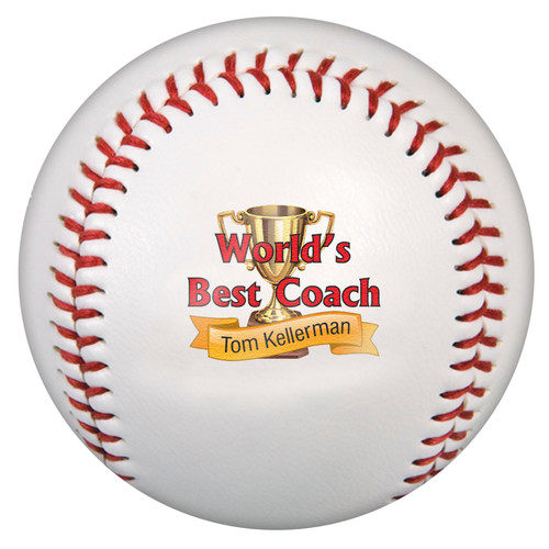 Custom Printed Baseball - Best Coach