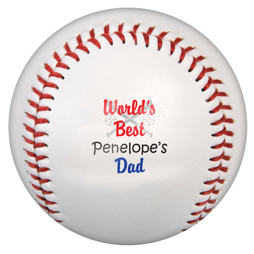 Custom Printed Baseball - Best Dad