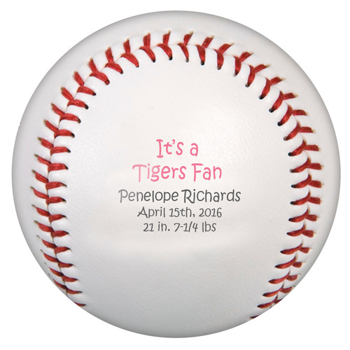 Custom Printed Baseball - Fan Girl