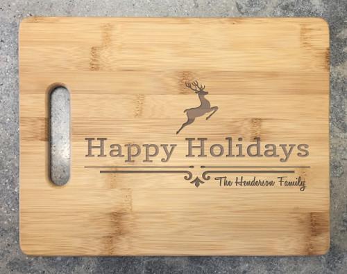 Cutting Board - Happy Holidays