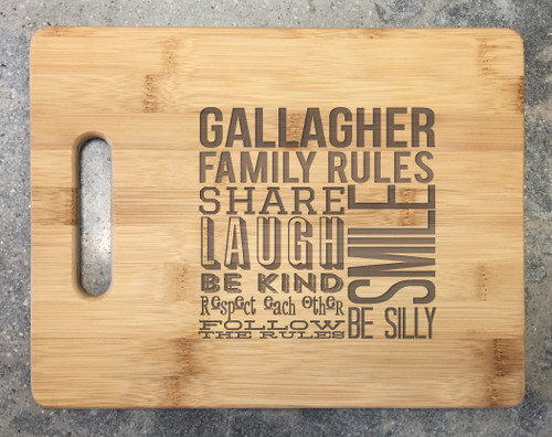 Cutting Board - Family Rules