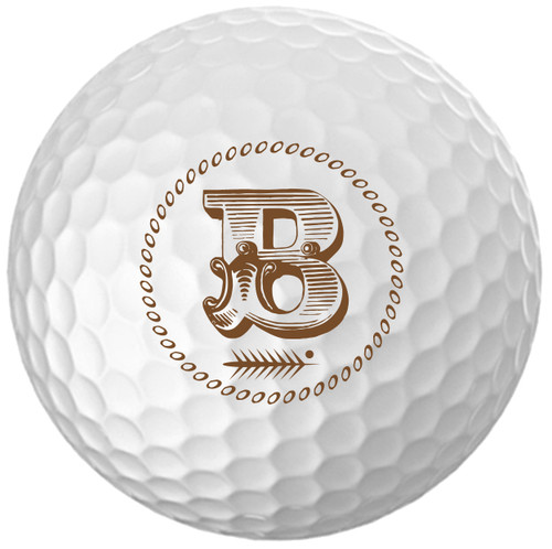 Custom Printed Golf Ball - Initial only