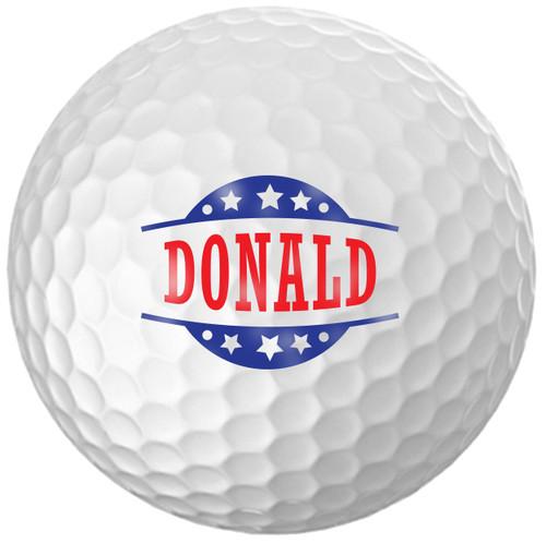Custom Printed Golf Ball - Donald