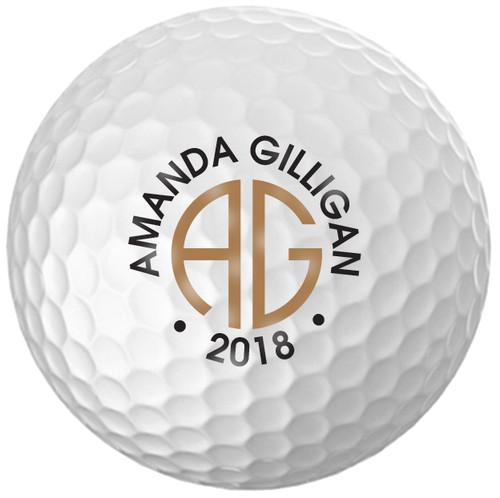 Custom Printed Golf Ball - Amanda