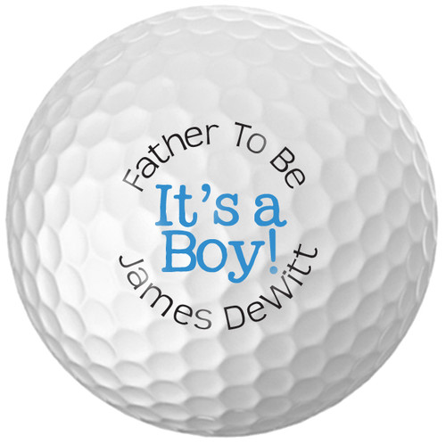 Custom Printed Golf Ball - Father to be Boy