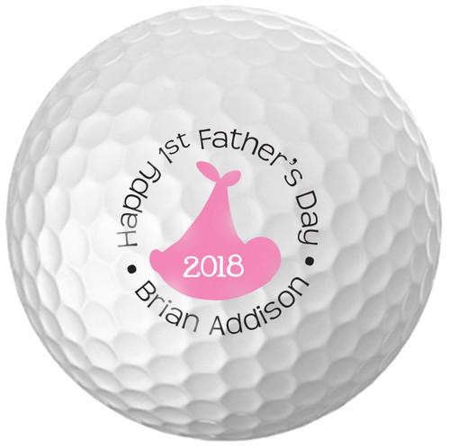 Custom Printed Golf Ball - Father's day Girl