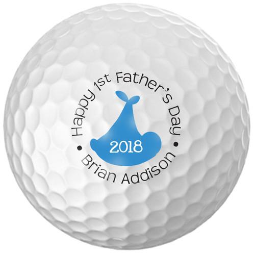 Custom Printed Golf Ball - Father's day Boy