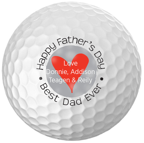 Custom Printed Golf Ball - Father's day