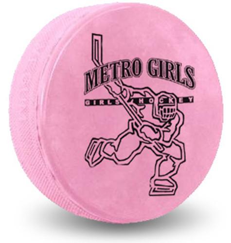 Custom Printed Hockey Puck - Pink