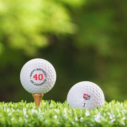 Wilson Staff  Custom Printed Golf Ball - Happy Birthday