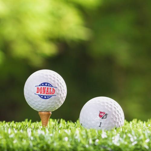 Wilson Staff Custom Printed Golf Ball - Donald