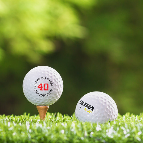 Wilson Ultra Custom Printed Golf Ball - Happy Birthday