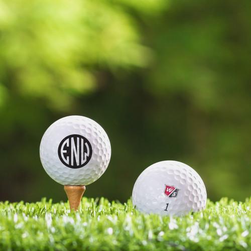 Bridgestone e12 Soft Custom Printed Golf Ball - Initial Style 1