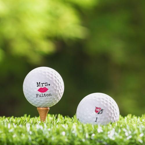 Bridgestone e12 Soft Custom Printed Golf Ball - Mrs