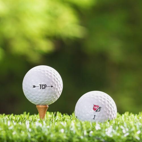 TaylorMade Rocketballz Speed Custom Printed Golf Ball - Initial Style 4
