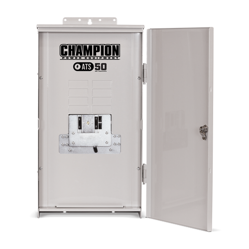Champion 100950 50A 1ph-120/240V Nema 3R Automatic Transfer Switch with 8-circuit Load Center