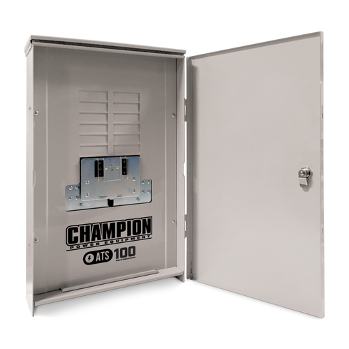 Champion 100952 100A 1ph-120/240V Nema 3R Automatic Transfer Switch with 12-circuit Load Center