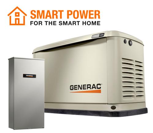 Generac 7224 14kW Guardian Generator with Wi-Fi & 100A 16-circuit Transfer Switch