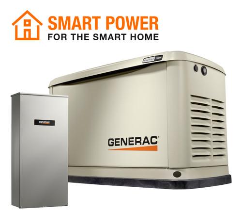 Generac 7228 18kW Guardian Generator with Wi-Fi & 200A SE Transfer Switch