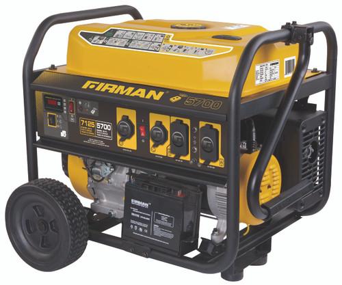 Firman P05703 5700W Remote Start Portable Generator with Wheel Ki