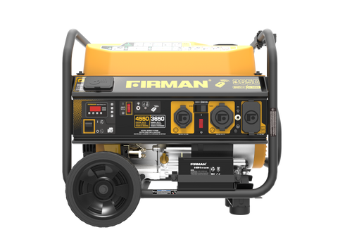 Firman P03612 3650W Remote Start Portable Generator with Wheel Kit & 120/240V Voltage Selector