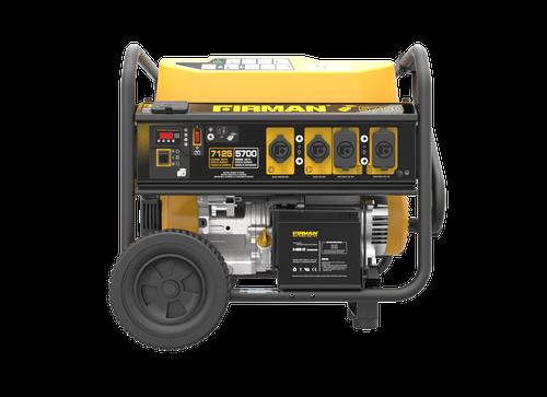 Firman P05702 5700W Remote Start Portable Generator with Wheel Kit