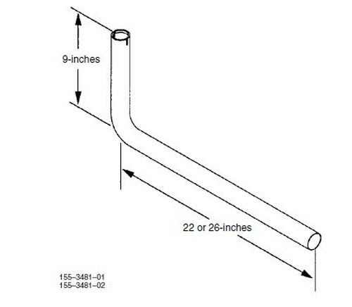 "Cummins Onan 155-3481-02 26"" Exhaust Tube Kit"