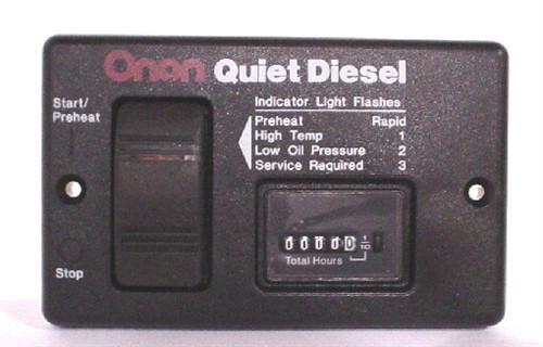 Cummins Onan 300-4943 Basic Remote Start Panel W/Hour Meter
