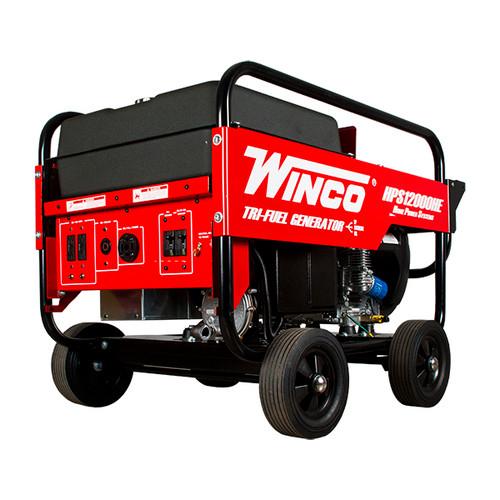 Winco HPS12000HE 10800W Electric Start Portable Tri-Fuel Generator