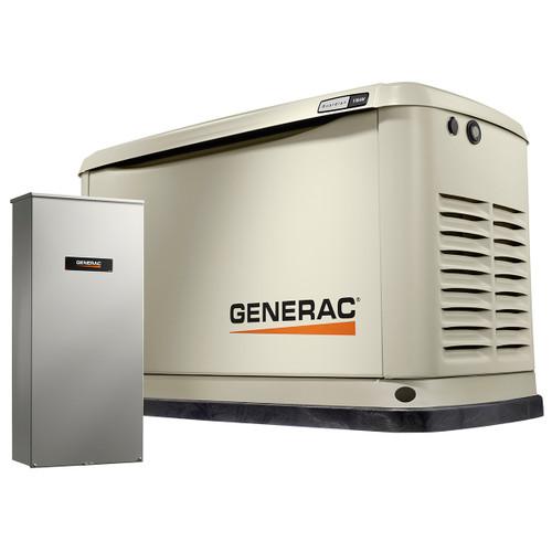 Generac Guardian 70321 11kW Generator with Wi-Fi & 100A 16-circuit Transfer Switch