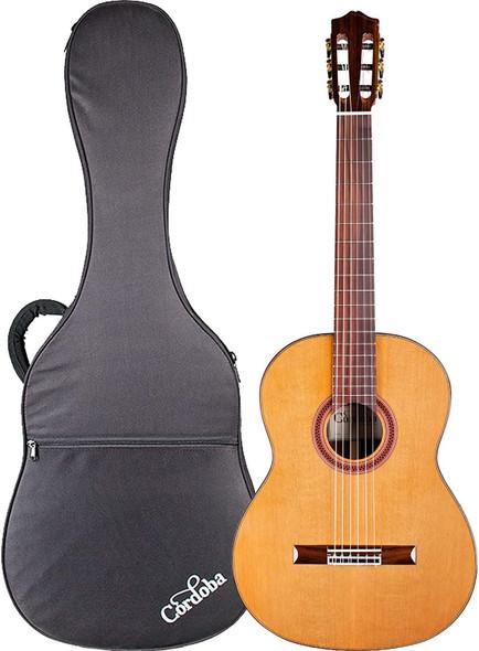 Cordoba C7 CD Acoustic Nylon String Classical Guitar with Cordoba Polyfoam Case