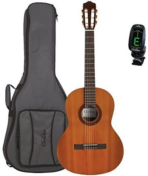 Cordoba Dolce 7/8 Scale Acoustic Nylon String Classical Guitar with Deluxe Gig Bag and Tuner
